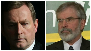 Both Enda Kenny and Gerry Adams saw support for their parties fall, according to the poll