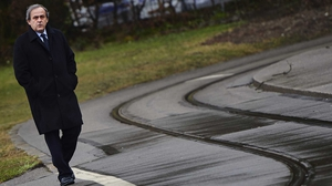 Michel Platini in Zurich on Tuesday