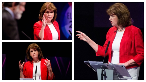 Joan Burton was 'all hands on deck' during Monday night's leaders' debate on RTÉ