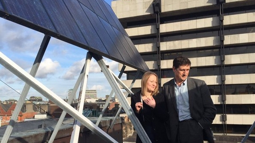 Eamon Ryan said he was pleased by the Green Party's rise in the polls