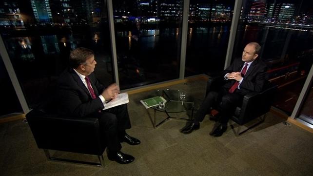 Bryan Dobson talks to Fianna Fáil leader Micheál Martin