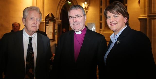 Dr John Bowman, Rt Revd John McDowell and Arlene Foster at Christ Church