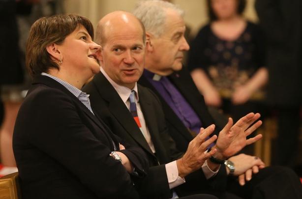 Arlene Foster chats with British Ambassador Dominick Chilcott