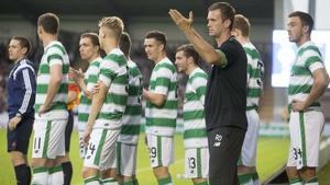 Ronny Deila's Celtic side face Rangers at noon on Sunday