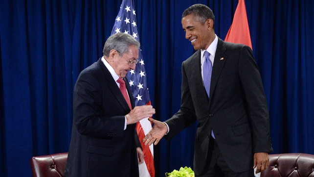 Raul Castro and Barack Obama pictured at a UN meeting in New York in September 2015