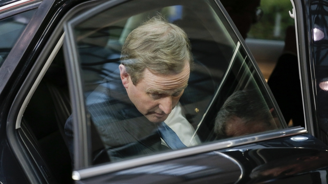 Enda Kenny arrives for the EU leaders summit