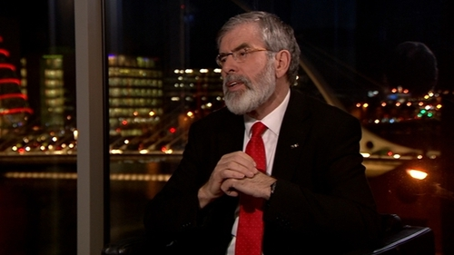 Gerry Adams was speaking on RTÉ's Six One News
