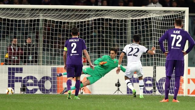 Nacer Chadli opens the scoring for Tottenham