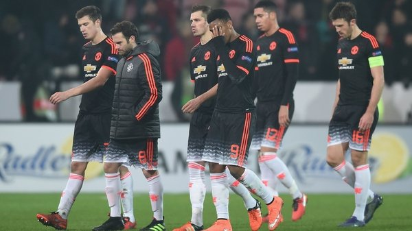 Manchester United players react to their surprise defeat