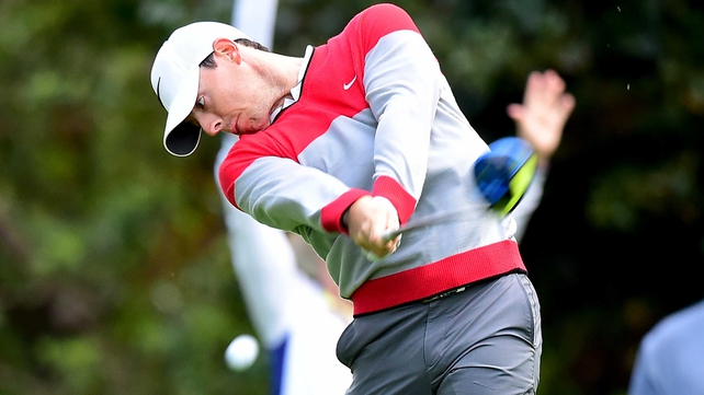 Rory McIlroy is four shots off the pace in California
