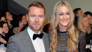Ronan and wife Storm Keating