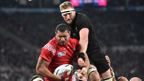 Kieran Read takes over the New Zealand captaincy from Richie McCaw