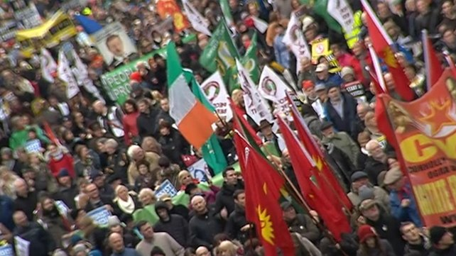 Organisers of the demonstration said that 106 election candidates have signed up to the Right2Change principles