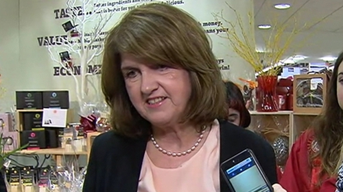 Labour leader Joan Burton was speaking in Waterford