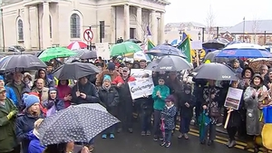 Community groups from all parts of the country participated in the event and marched through the town of Athlone