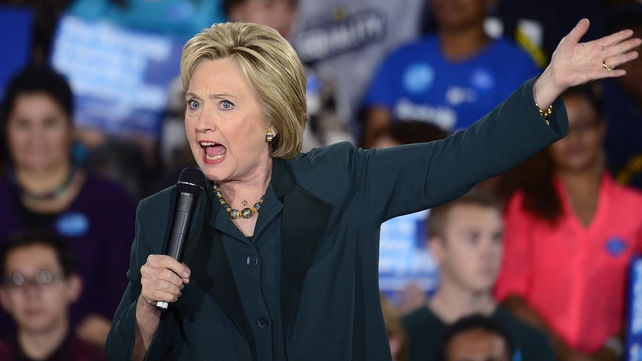 Hillary Clinton rallies the crowds in Nevada
