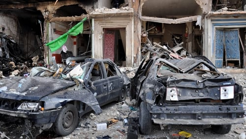The attacks, which hit the city's central Al-Zahraa district in Homs, were among the biggest blasts to hit a government-held area in Homs in the five-year-old civil war