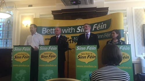 Martin McGuinness was speaking at a Sinn Féin press conference this morning