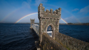 Rainbow at Vartry Reservoir, outside Roundwood, Co Wicklow (Pic: Patrick Rushe)