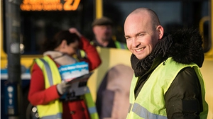 Paul Murphy of the AAA-PBP was among the Independents and smaller parties making a last-minute pitch for votes