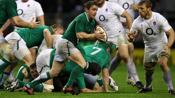 Eoin Reddan in action during Ireland's 30-9 loss in 2012