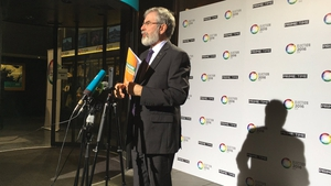 Gerry Adams was the most talked abut of the four leaders on Twitter last night