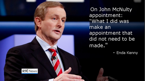 Enda Kenny's comments on the John McNulty affair have put him under pressure