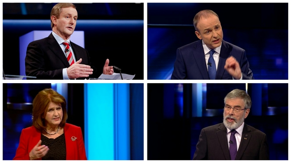 Enda Kenny, Micheál Martin, Joan Burton and Gerry Adams put forward their positions