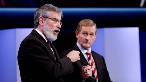 Gerry Adams was popular on Google while Enda Kenny was a hit on Facebook