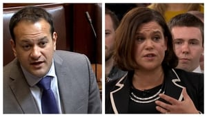 Leo Varadkar and Mary Lou McDonald clashed over their parties' various policies