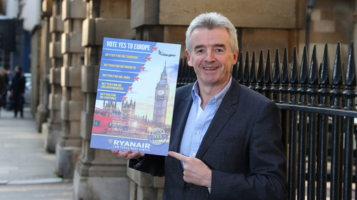 Ryanair CEO Michael O'Leary had campaigned for the UK to stay in the European Union