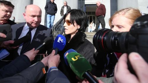 Dolores O'Riordan outside Ennis District Court