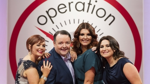 (L-R) Leaders Noeleen Lynam, John Conmy, Lucy Dillon and Clare Scanlan have collectively lost seven stone, two pounds since the show returned to RTÉ One last month Photos: Andres Poveda