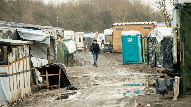 The migrant camp in Calais is known as the 'Jungle'