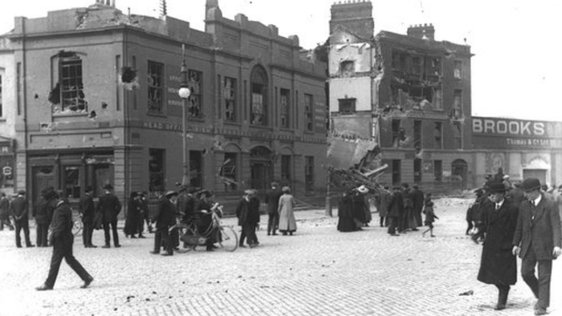 Ruins of Liberty Hall after the Rising. RTÉ Stills Library