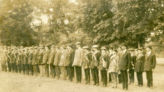 Members of the Irish Volunteers on parade, 1914 Courtesy of Military Archives