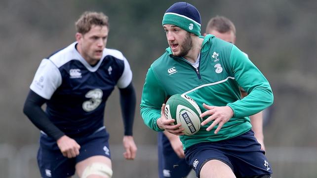 Stuart McCloskey earns his first Ireland start