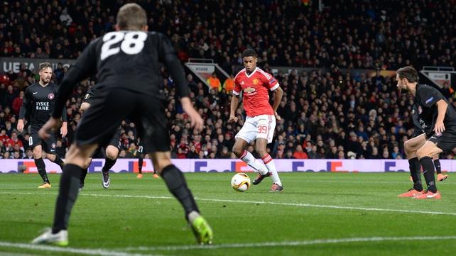 Marcus Rashford opened his account for United