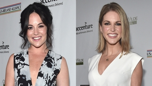 Irish actresses Sarah Greene and Amy Huberman