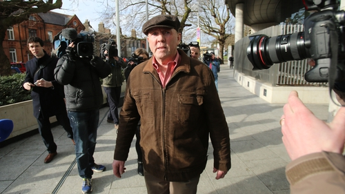 Thomas 'Slab' Murphy pictured as he arrived in court this morning