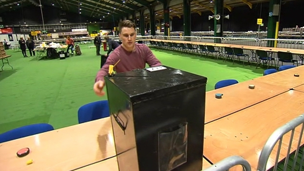 Ballot box at the RDS, Dublin
