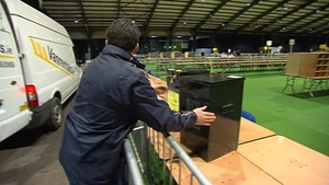 Ballot boxes are arriving at the RDS ahead of the count in the morning