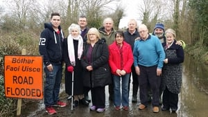 Four families still cut off by a flooded road in Offaly waiting to get a lift to vote at Mountbolus Community Centre