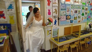 Mary Catherine Conroy cast her vote on her wedding day in An Cheathrú Rua, Co Galway