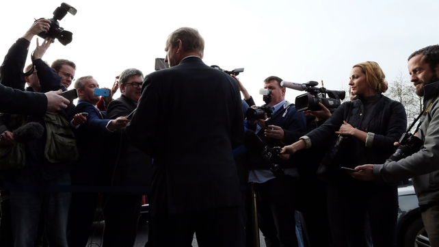 Exit polls suggest Fine Gael leader Enda Kenny's back is to the wall