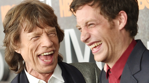 Mick and James Jagger pictured at the New York premiere of Vinyl, January 15 last