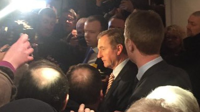 Enda Kenny was re-elected on the first count after polling 13,318 first preference votes and exceeding the quota