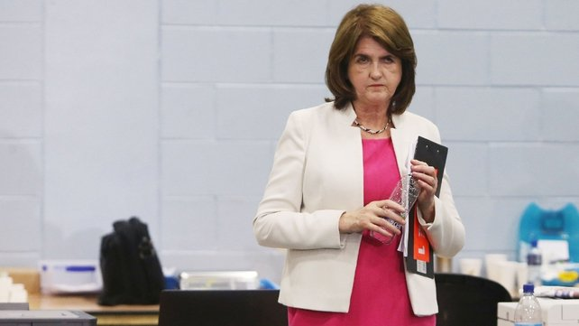 Joan Burton said she will not be deciding about her future as Labour leader until she knows the outcome for the party in terms of seats