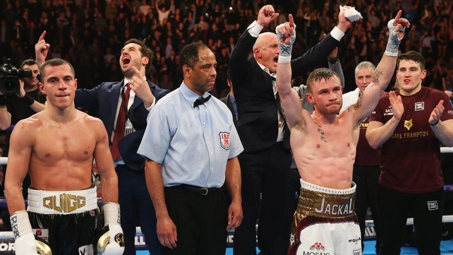 Joy for Team Frampton as the Belfast boxer is confirmed as the IBF and WBA world champion