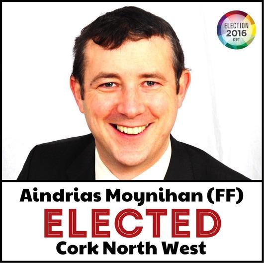 Aindrias Ó Muineacháin;TD Fianna Fáil;Olltoghchán
